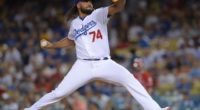 Los Angeles Dodgers closer Kenley Jansen against the Los Angeles of Anaheim