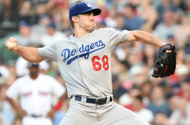 Los Angeles Dodgers starting pitcher Ross Stripling against the Boston Red Sox