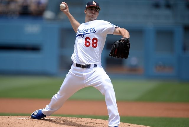 Los Angeles Dodgers starting pitcher Ross Stripling against the San Diego Padres