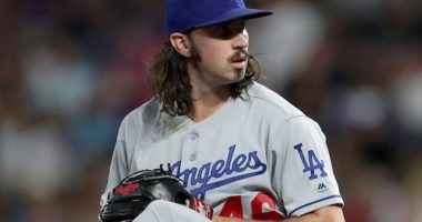 Los Angeles Dodgers pitcher Tony Gonsolin against the Colorado Rockies