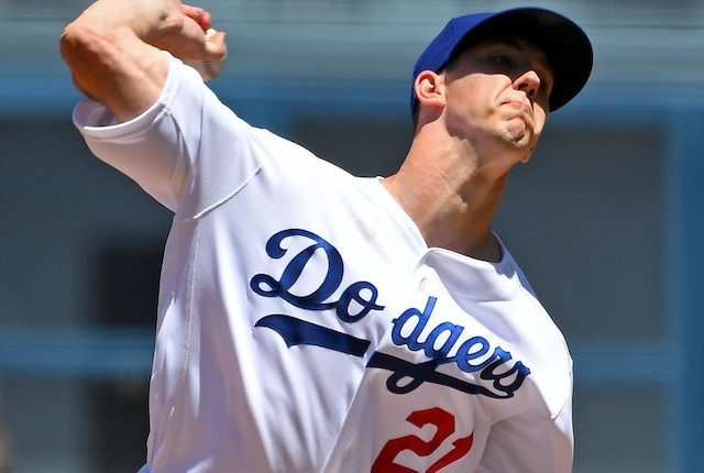Los Angeles Dodgers starting pitcher Walker Buehler against the Miami Marlins