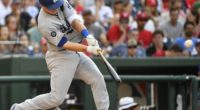 Los Angeles Dodgers catcher Will Smith hits a three-run double against the Washington Nationals