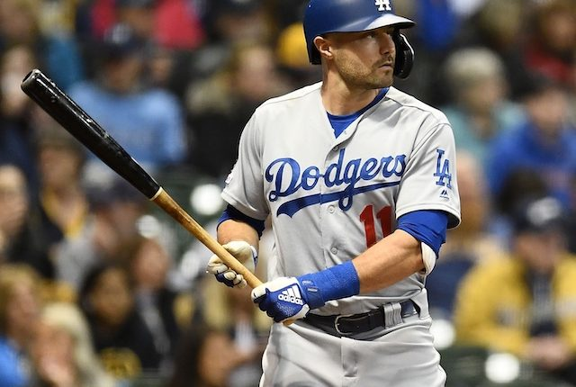 Los Angeles Dodgers center fielder A.J. Pollock at bat