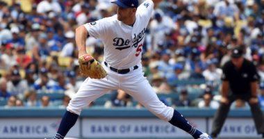 Los Angeles Dodgers relief pitcher Adam Kolarek agains the St. Louis Cardinals
