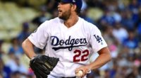 Los Angeles Dodgers pitcher Clayton Kershaw in a start against the San Diego Padres