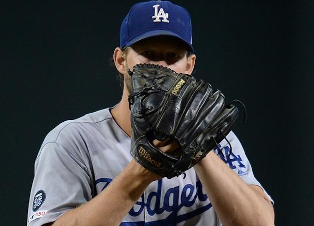 Los Angeles Dodgers pitcher Clayton Kershaw against the Arizona Diamondbacks