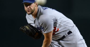 Los Angeles Dodgers pitcher Clayton Kershaw against the Arizona Diamondbacks
