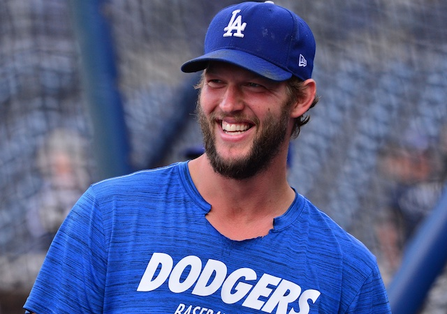 Los Angeles Dodgers pitcher Clayton Kershaw during batting practice at Petco Park
