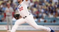 Los Angeles Dodgers starting pitcher Clayton Kershaw against the St. Louis Cardinals