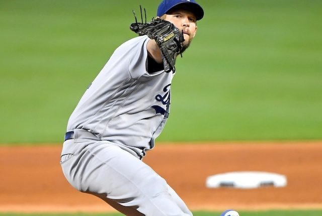 Los Angeles Dodgers pitcher Clayton Kershaw in a start against the Miami Marlins