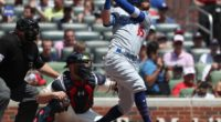 Los Angeles Dodgers All-Star Cody Bellinger hits a home run against the Atlanta Braves