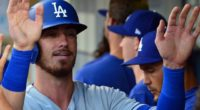 Los Angeles Dodgers All-Star Cody Bellinger is congratulated after scoring a run