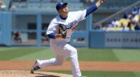 Los Angeles Dodgers starting pitcher Hyun-Jin Ryu against the Arizona Diamondbacks