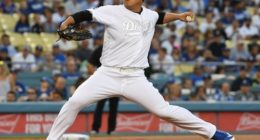 Los Angeles Dodgers pitcher Hyun-Jin Ryu against the New York Yankees
