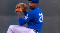 Los Angeles Dodgers prospect Joshiah Gray with Double-A Tulsa Drillers