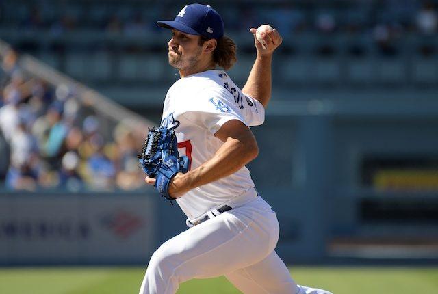Los Angeles Dodgers relief pitcher JT Chargois against the Arizona Diamondbacks