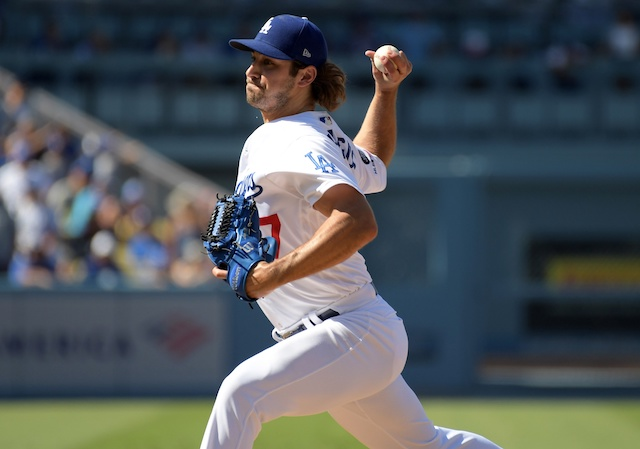 Los Angeles Dodgers relief pitcher JT Chargois against the Arizona Diamondbacks