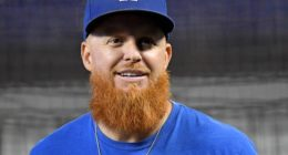 Los Angeles Dodgers third baseman Justin Turner during batting practice at Marlins Park