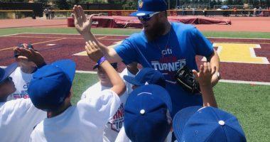 Los Angeles Dodgers third baseman Justin Turner hosts the annual Citi ProCamps baseball camp