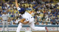 Los Angeles Dodgers closer Kenley Jansen against the Toronto Blue Jays