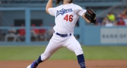 Los Angeles Dodgers pitcher Tony Gonsolin against the St. Louis Cardinals