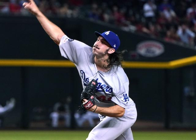 Los Angeles Dodgers pitcher Tony Gonsolin against the Arizona Diamondbacks