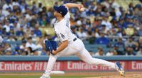 Los Angeles Dodgers pitcher Walker Buehler in a start against the Toronto Blue Jays
