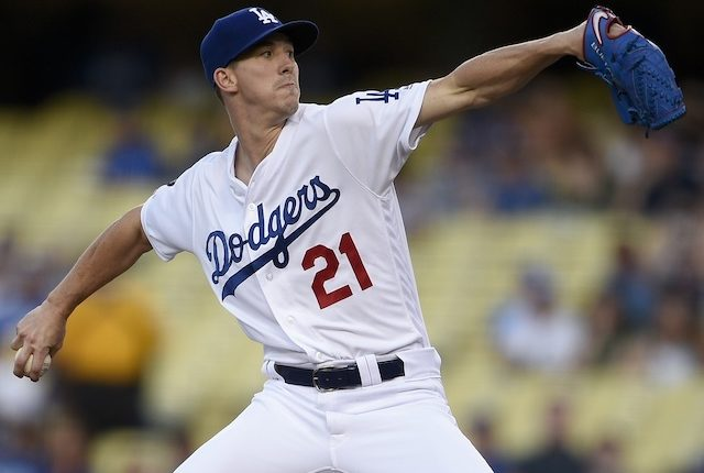 Los Angeles Dodgers starting pitcher Walker Buehler against the Arizona Diamondbacks