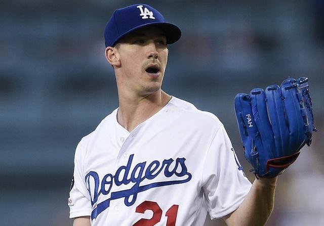 Los Angeles Dodgers starting pitcher Walker Buehler against the Arizona Diamondbacks