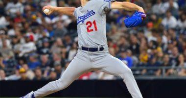 Los Angeles Dodgers pitcher Walker Buehler against the San Diego Padres