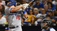 Los Angeles Dodgers catcher Will Smith hits a home run against the Miami Marlins