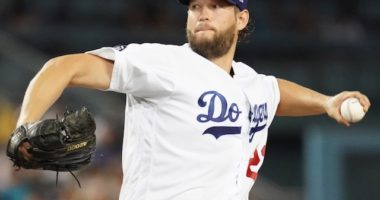 Los Angeles Dodgers pitcher Clayton Kershaw against the San Francisco Giants