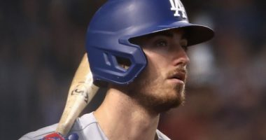 Los Angeles Dodgers All-Star Cody Bellinger on deck at Chase Field