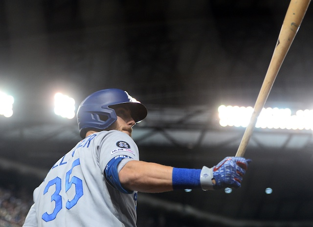 Los Angeles Dodgers All-Star Cody Bellinger in the on-deck circle