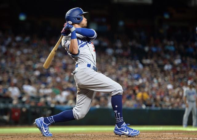 Los Angeles Dodgers All-Star Cody Bellinger hits a game-tying home run against the Arizona Diamondbacks