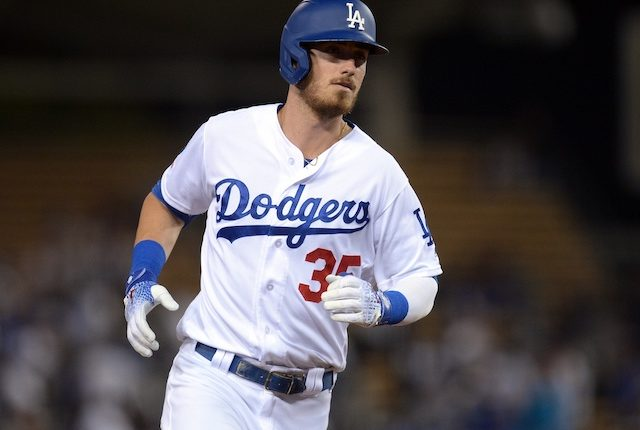 Los Angeles Dodgers All-Star Cody Bellinger rounds the bases after hitting a home run at Dodger Stadium