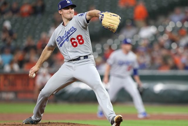 Los Angeles Dodgers pitcher Ross Stripling against the Baltimore Orioles