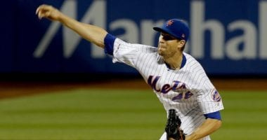 New York Mets pitcher Jacob deGrom against the Los Angeles Dodgers