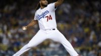 Los Angeles Dodgers closer Kenley Jansen against the San Francisco Giants