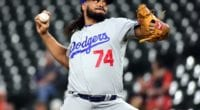 Los Angeles Dodgers closer Kenley Jansen against the Baltimore Orioles