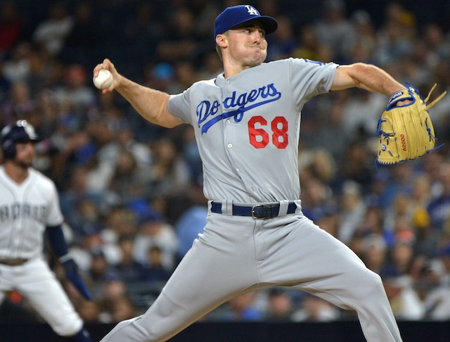 Los Angeles Dodgers pitcher Ross Stripling against the San Diego Padres