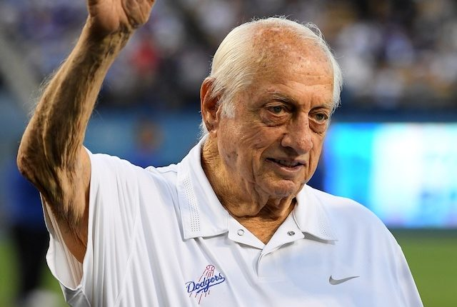 Former Los Angeles Dodgers manager on Tommy Lasorda bobblehead night at Dodger Stadium