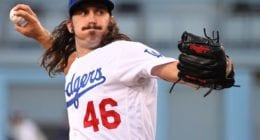 Los Angeles Dodgers pitcher Tony Gonsolin against the Tampa Bay Rays