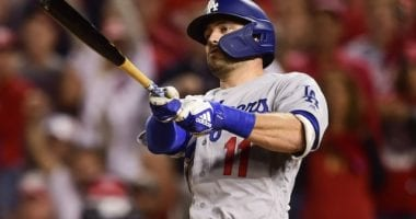 Los Angeles Dodgers outfielder A.J. Pollock during the 2019 NLDS