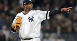 New York Yankees pitcher CC Sabathia during the 2019 ALCS