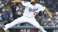 Los Angeles Dodgers pitcher Clayton Kershaw during Game 5 of the 2019 NLDS