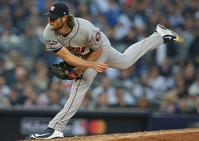 Houston Astros pitcher Gerrit Cole against the New York Yankees in the 2019 ALCS