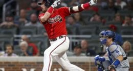 Atlanta Braves infielder Josh Donaldson against the Los Angeles Dodgers