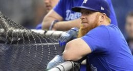 Los Angeles Dodgers third baseman Justin Turner before Game 3 of the 2019 NLDS