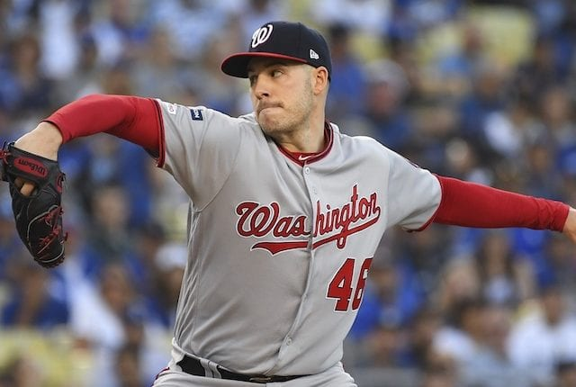 Washington Nationals pitcher Patrick Corbin during Game 1 of the 2019 NLDS